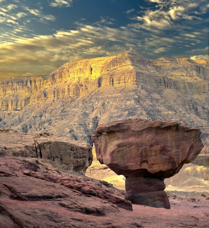 The famous mushroom rock at Timna.