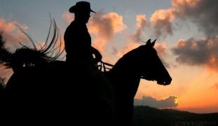 An Israeli cowboy. Photo by Flash90.