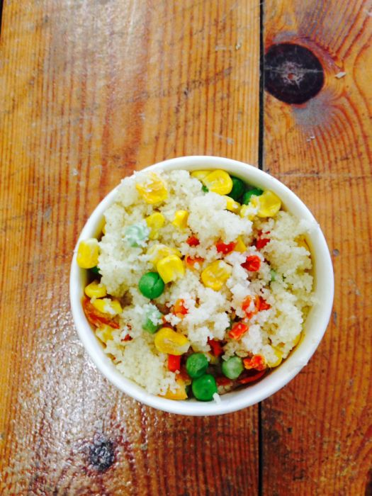 Couscous and vegetables, one of the latest Genie offerings.