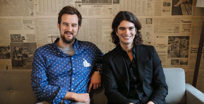 WeWork founders Miguel McKelvey and Adam Neumann.
