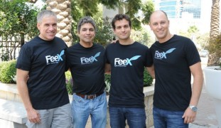 FeeX cofounders Uri Levine, left, Eyal Halahmi, Yoav Zurel and David Weisz.