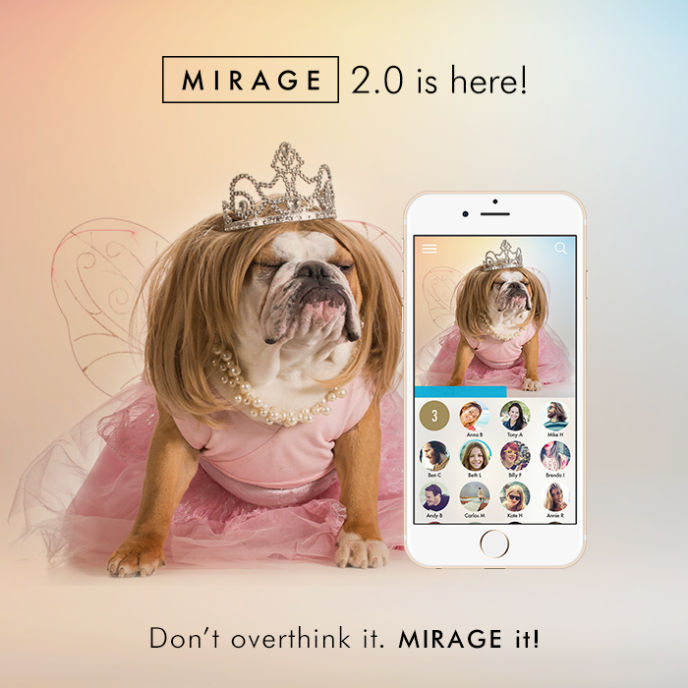 Mirage erases messages after they're read.