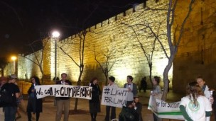The Interfaith Center for Sustainable Development organized the Jerusalem #LightForLima solar-lantern event. Photo by Gundula M. Tegtmeyer for the ICSD