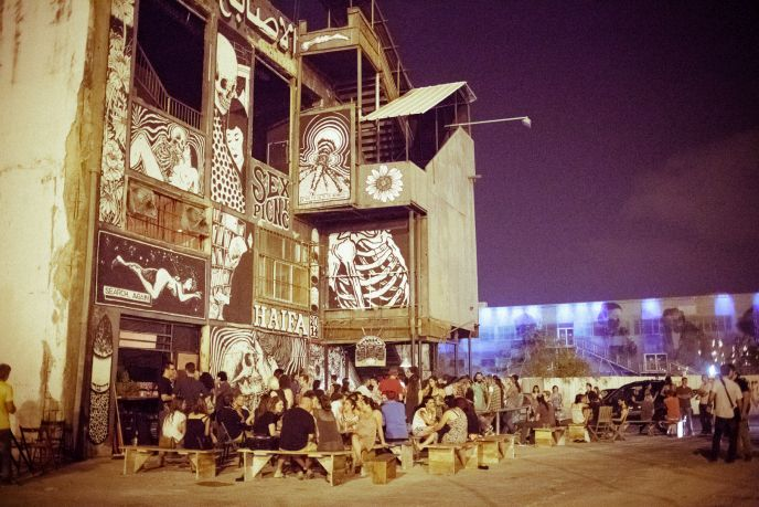 Young people have been flocking to the Haifa Port for Kartel events. Photo by Matansky