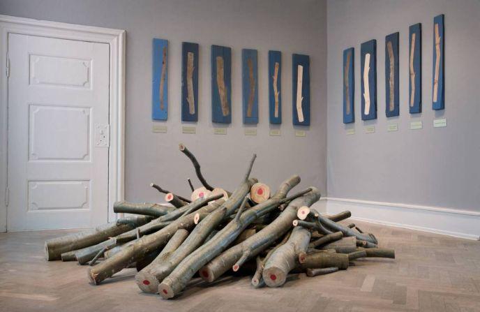 An indoor Kartel exhibit.