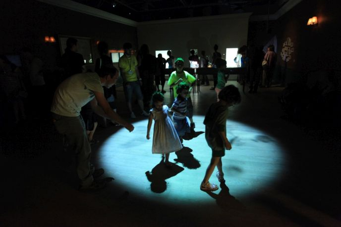 Games in Light and Shadow exhibition at Bloomfield. Photo by Sasson Tiram