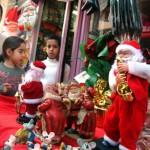 Christmas vendors abound in the Wadi Nisnas neighborhood of Haifa. Photo by Jorge Novominsky/FLASH90