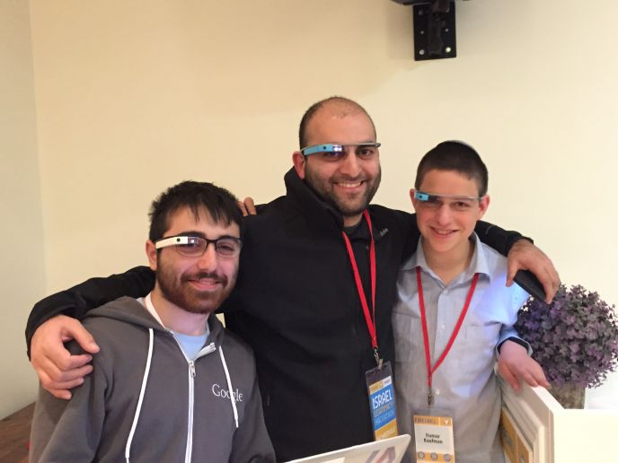 Google Glass is the accessory of choice for developers at the Reut Hackathon.