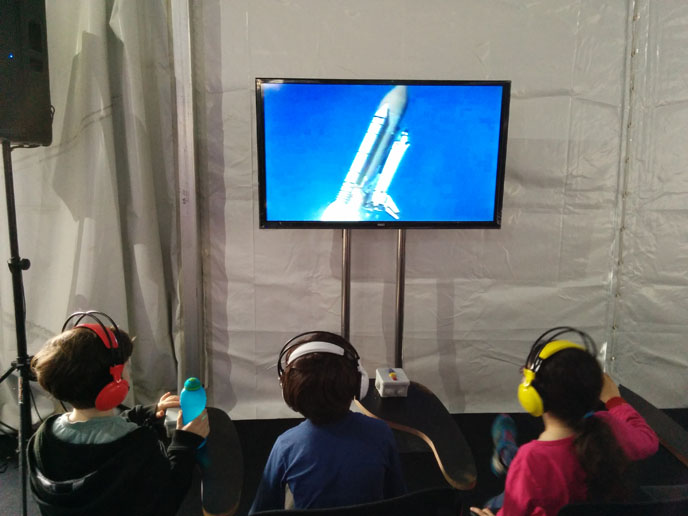 Space Week in Israel kicked off with educational activities and museum exhibits  flaunting Israel's expertise in space technology. (photo: Viva Sarah Press)
