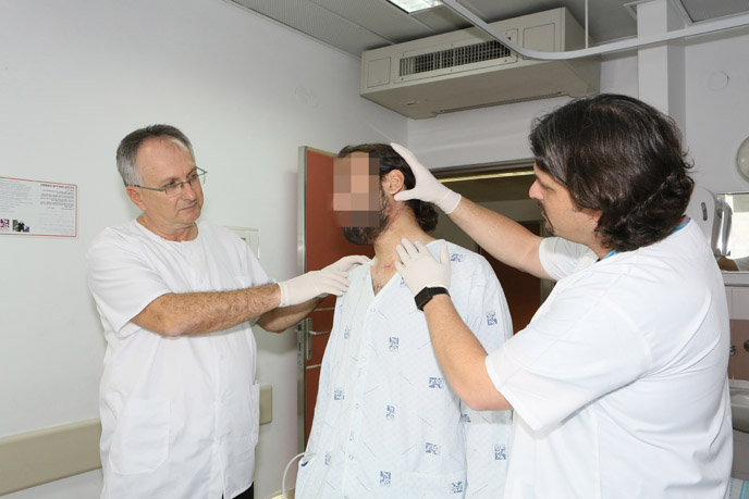 Israeli doctors created a jaw perfectly suited to their Syrian patient. (Pioter Fliter, Rambam)
