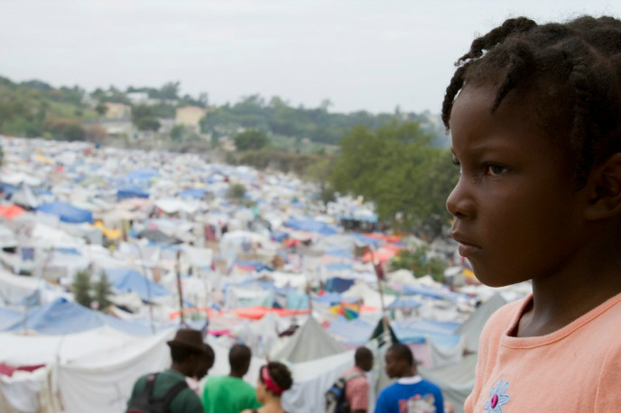A Haitian tent city for people displaced by the earthquake. Photo courtesy of the UJA Federation of Greater Toronto