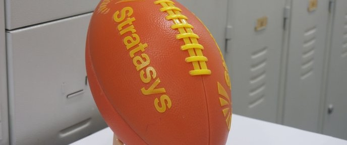 World's first 3D printed football was tested in Jerusalem.