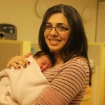 Miri Hillel and her newborn at Hadassah Baby. Photo by Tsiporet Eisenberg