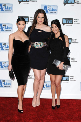 Kim Kardashian, Khloe Kardashian and Kourtney Kardashian in a file photo. (Shutterstock.com)