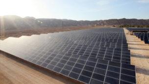 A solar field in Israel's Arava desert.