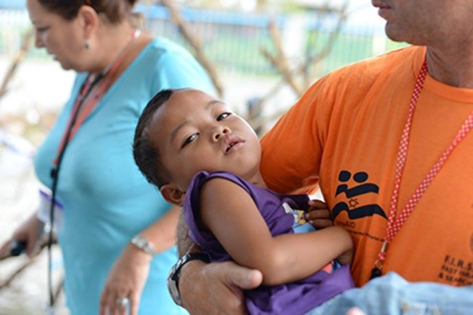 IsraAid in action after Typhoon Hayain in the Philippines, which killed over 6,300 people in that country alone.