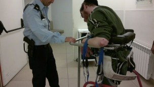 Officer Oren training with his ALEH partner.