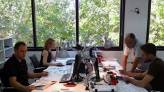 Taga team members at work in Tel Aviv.