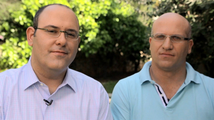 Consumer Physics cofounders Damian Goldring (PhD in electro-optics) and Dror Sharon.