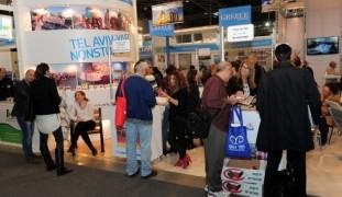 Visitors at the International Mediterranean Tourism Market exhibition.