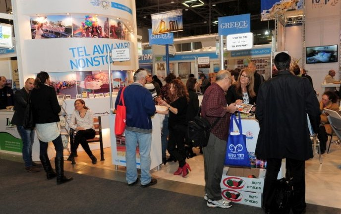 Visitors at the International Mediterranean Tourism Market exhibition.