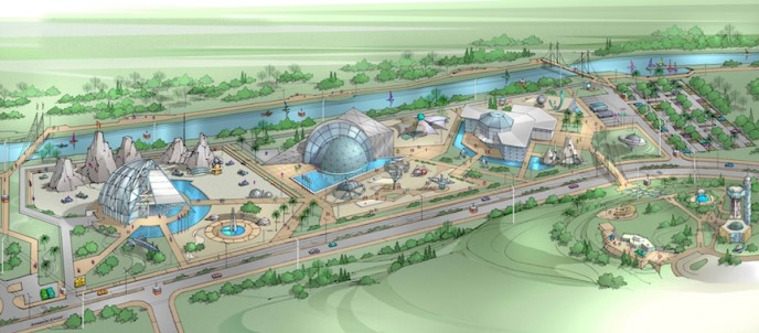 International Space Center in Ashdod - artist's drawing. (Ashdod Municipality)