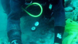 Almost 2,000 coins were discovered on the seabed. (Photo: Kobi Sharvit, courtesy of the Israel Antiquities Authority)