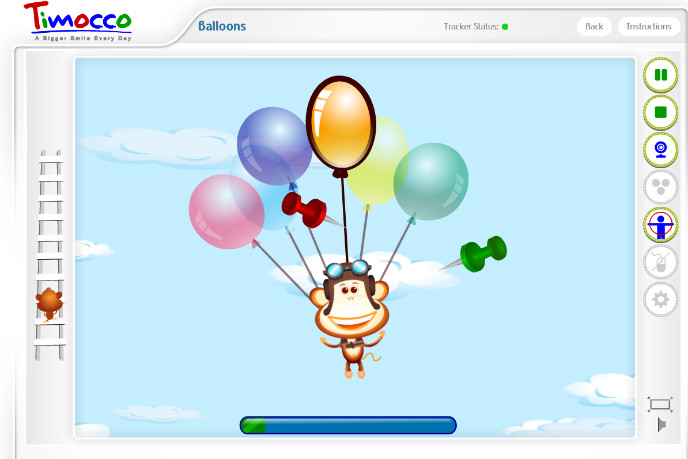 This pop-the-balloons game teaches skills such as hand-eye coordination, arm movement and concentration.