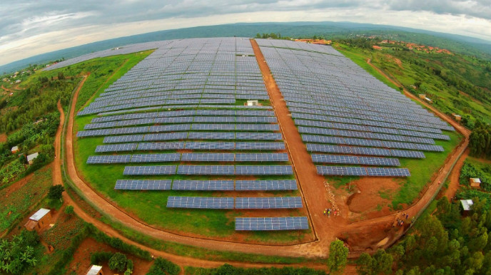 Gigawatt Global's solar field at Rwanda's Agahozo Shalom Youth Village.