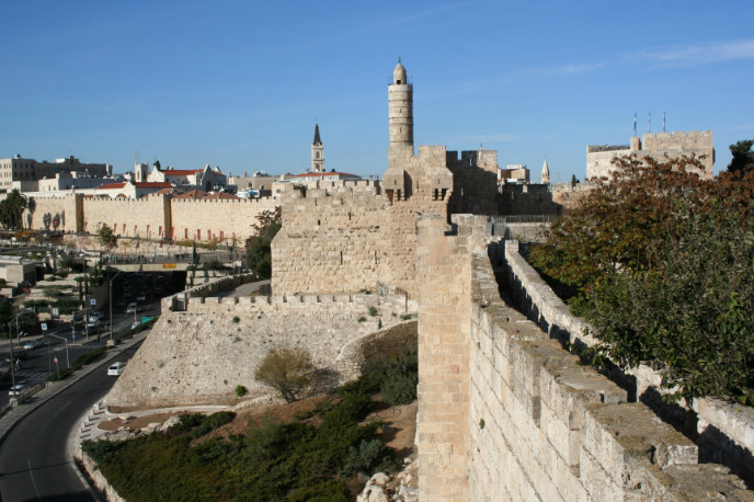 Walk atop the Old City ramparts for a unique viewpoint.