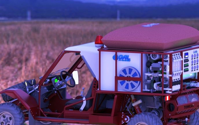 This GalMobile can provide enough fresh water for 5,000 people.