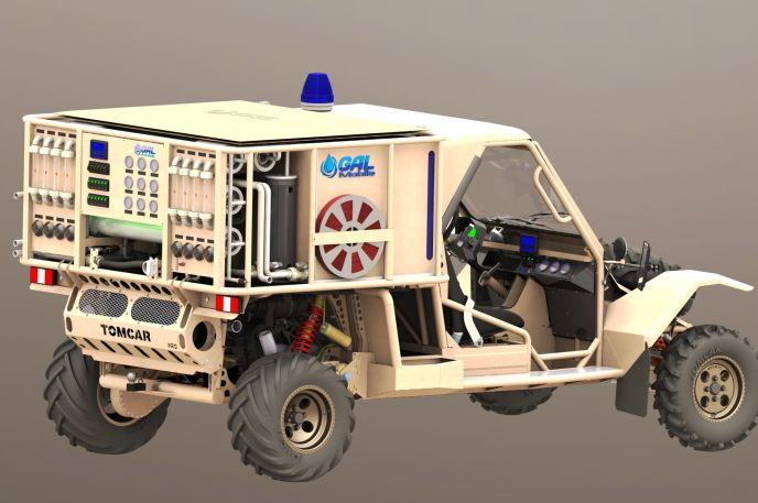 A GalMobile ready for deployment.