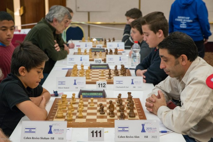 100 Israeli chess players are competing at the European Individual Chess Championship. (Photo by Yoav Nis)