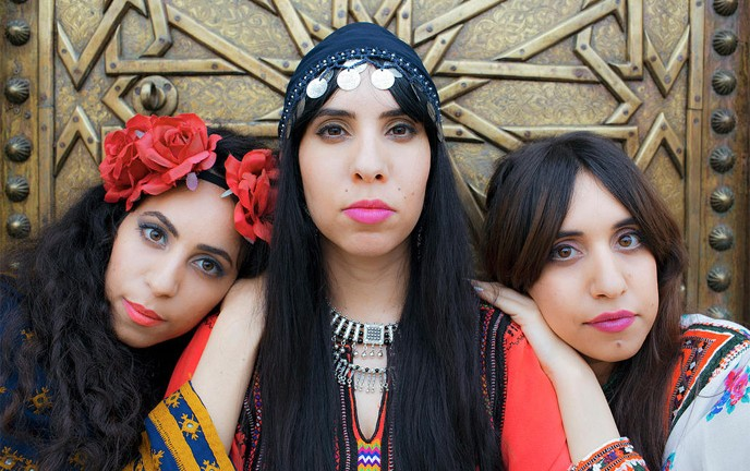 The Haim sisters star in Habib Galbi. (Photo: Tomer Yosef for A-WA)