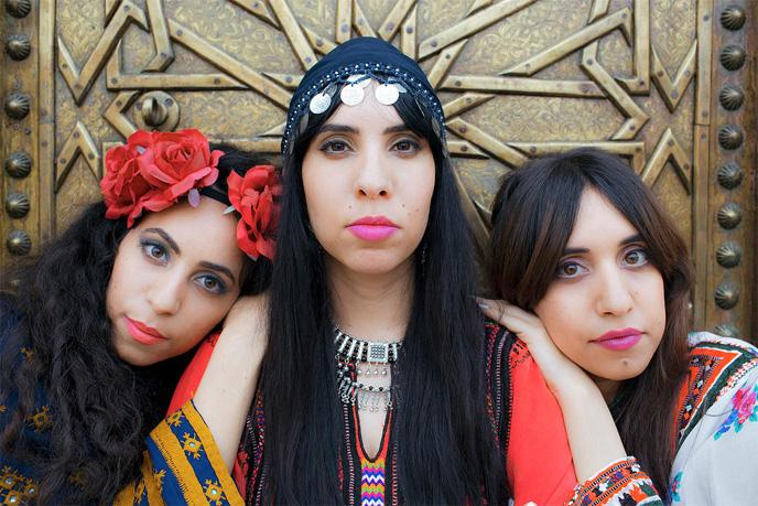 The Haim sisters star in Habib Galbi. (Photo: Tomer Yosef for A-WA)