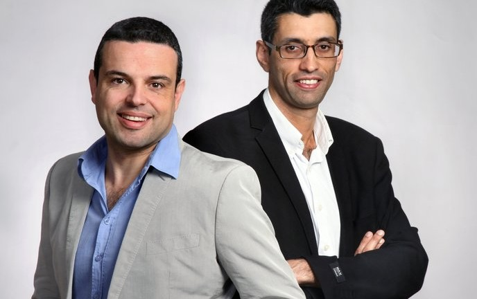 AlgoValue cofounder and CEO Raphael Meyara, left, and cofounder and CFO Tsachi Hageg.