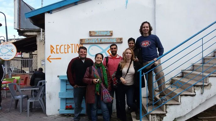 Backpackers from around the world find Juha's Guesthouse.