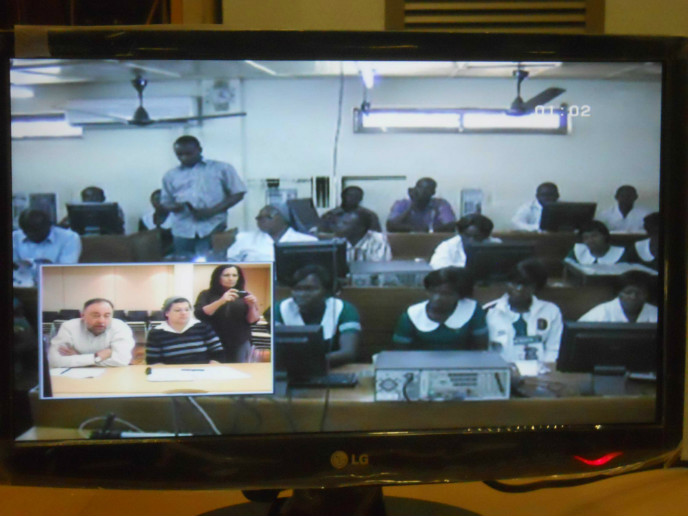 A video training session from Herzog Hospital in Jerusalem to St. Joseph Hospital in Ghana.