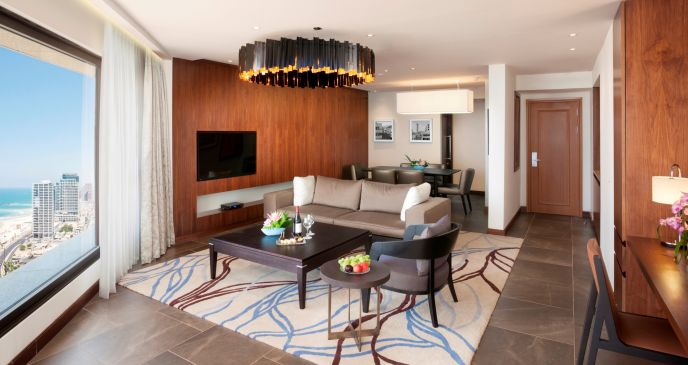 Royal Suite's living and dining areas.
