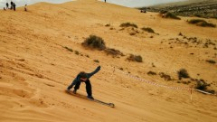 Kids love sandboarding in the Negev. Photo by Viva Sarah Press