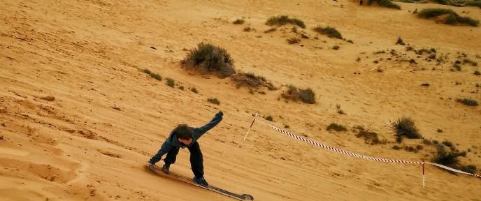 Kids love sandboarding in the Negev. Photo by Viva Sarah Press