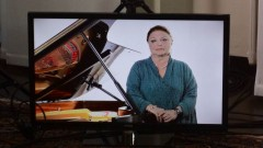 "Oxana Yablanskaya teaching during a recent video production for the website ""Master Classes with the Stars."""