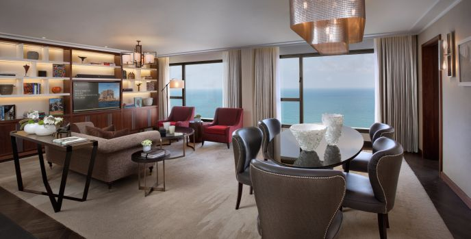The David InterContinental Hotel's newly renovated Tel Aviv Suite costs $3,500 per night.
