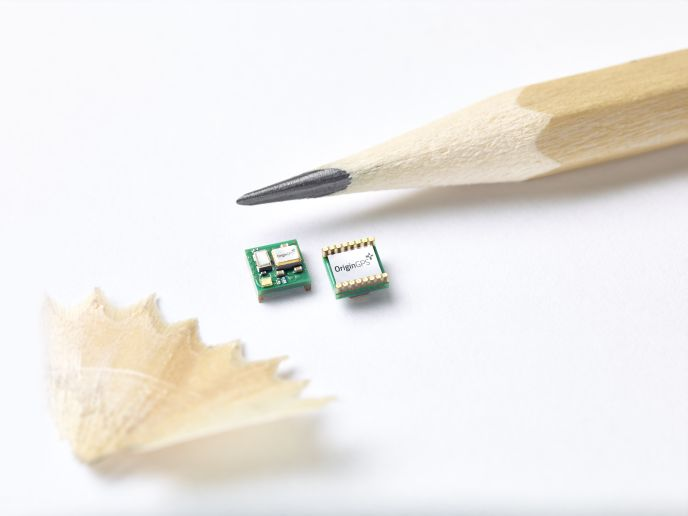OriginGPS's module is just 4x4 millimeters.