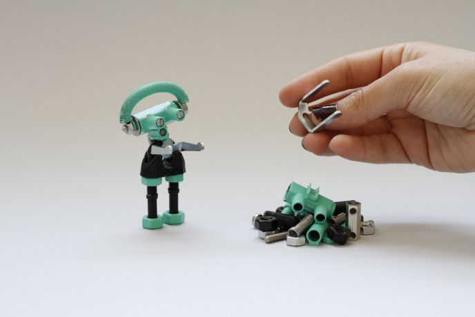 Turning spare bits into a creative toy.
