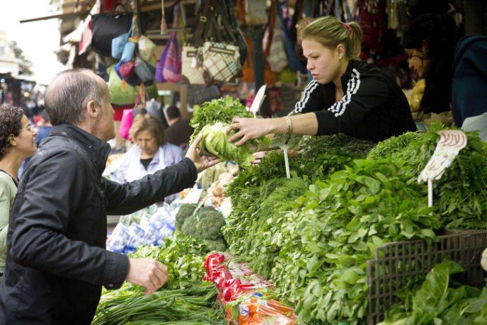 Discover new veggies at Shuk HaCarmel in Tel Aviv. Photo by Moshe Shai/FLASH9