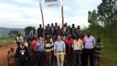 Gigawatt Global Burundi Managing Director Michael Fichtenberg with Burundi presidential adviser Jean-Jacques Nyenimigabo; representatives of the Polytechnic University of Gitega; and Omer Ndayishimiye, representative to the Gitega Municipal Council.