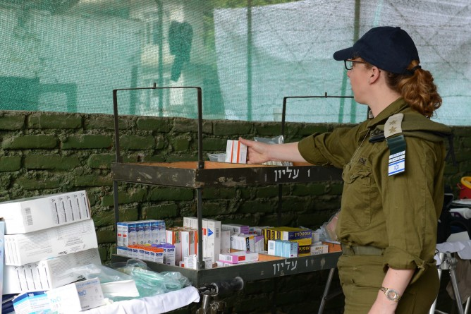 The field hospital in Kathmandu is stocked with supplies and medicines brought over by the IDF.
