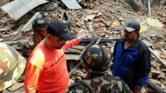 ZAKA International Rescue Unit head Mati Goldstein was part of a three-man advance team that went to Nepal to assess the situation, begin work and prepare the necessary logistics for the rest of the team. Photo courtesy of ZAKA