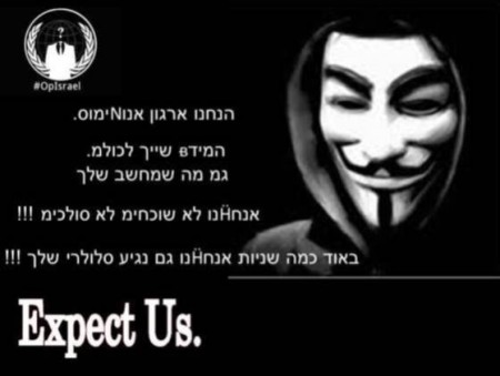 A sample threat by Anonymous hackers.